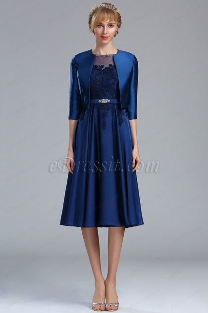 2b70f49cbec eDressit Blue Two Pieces Lace Appliques Mother of the Bride Dress (26173305)