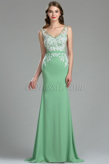 eDressit Beautiful Green Lace Quinceanera Spring Dress (00180504)