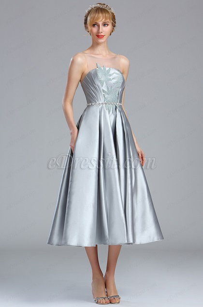 eDressit Light Grey Sleeveless Lace Appliques Party Dress (04170608)