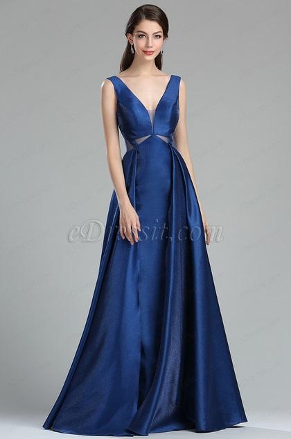 edressit robe de soir e fantaisie bleu occasion pour femme. Black Bedroom Furniture Sets. Home Design Ideas