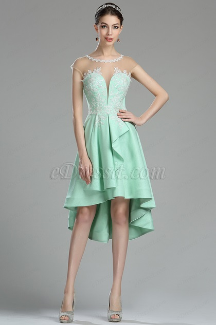 eDressit Cute Green Lace Appliques Short Prom Dress (04180204)