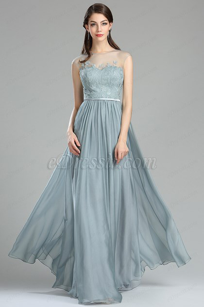 eDressit A-line Lace Appliques Evening Dress with Pleated Skirt