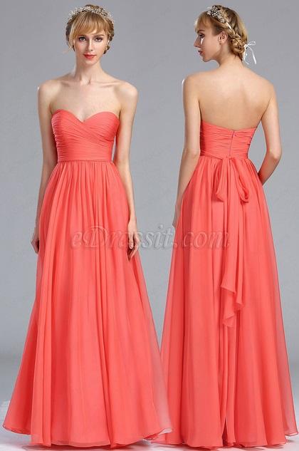 eDressit Coral Convertible Bridesmaid Dress (07170157)