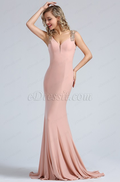 9a552ecdbe2 eDressit Elegant Blush Beaded Mermaid Formal Dress (36173546)