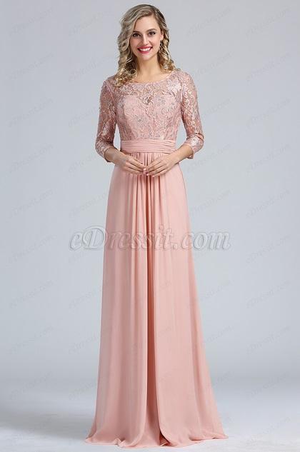 eDressit Blush A-line Overlace Prom Evening Dress (36173246)