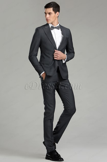 eDressit Tailor Made Dark Grey Men Suits Business Suit (15182408)