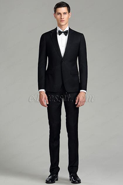 eDressit Plain Black Custom Men Suits Business Suits (15180500)