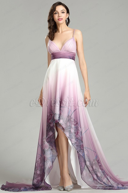 eDressit Pinkish Purple Bohemian Printed Summer Dress (00181868)