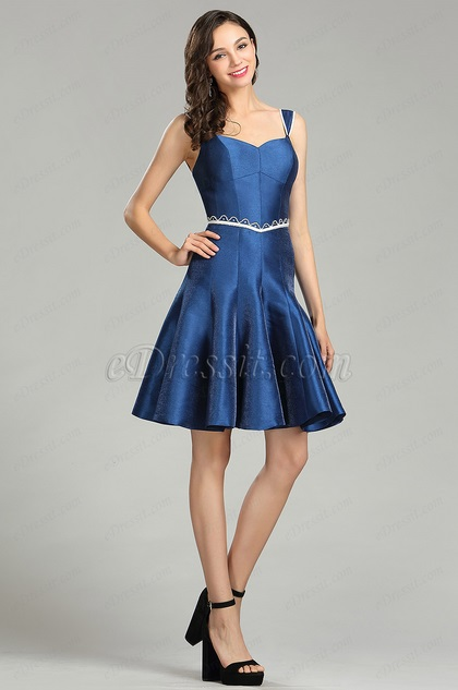 eDressit Cute Blue Backless Cocktail and Party Dress (04180305)