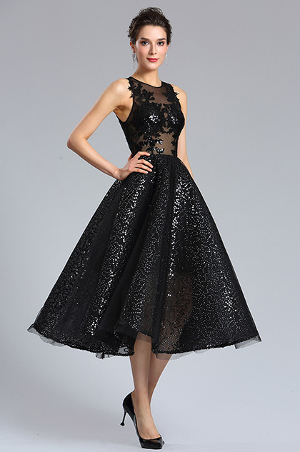 76f67ddf eDressit Sexy Black Sequins Cocktail Party Dress (04181300)