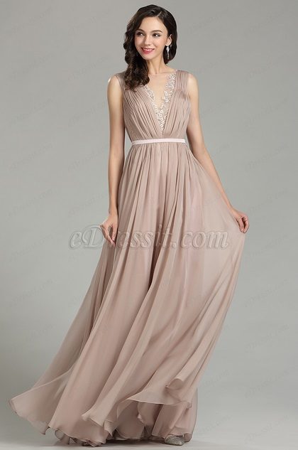 eDressit Pretty Blush Long Fashion Designer Dress (00181246)