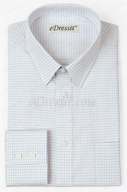 eDressit Custom Blue&Pink Check Dress Formal Shirt (29180407)