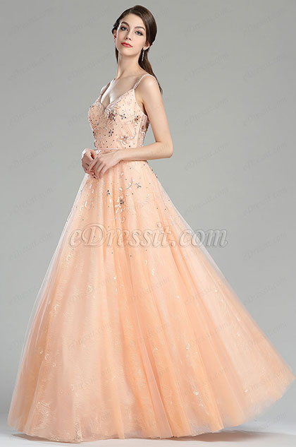 eDressit Peach Prom Gown Graduation Dress (36180410)