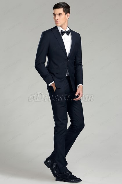 eDressit Navy Blue Custom Men Suits Business Suit (15181305)