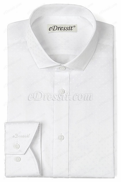 eDressit Custom White 100% Cotton Dress Shirt (29180707)