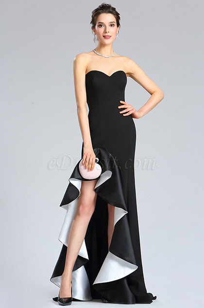 eDressit Sweet-Heart Black Slit Prom Evening Party Dress (36182000)