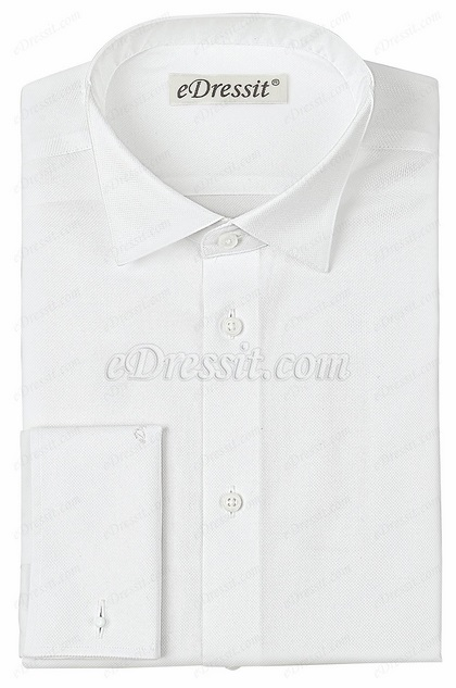 eDressit Custom White Non-iron 100% Cotton Tuxedo Shirt (29180607)