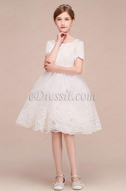 eDressit Short Slevees Princess Wedding Flower Girl Dress (28191207)
