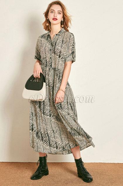 eDressit Silk Short Sleeves Shirt Dress Day Dress Wear to Work (30193308)