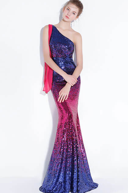 eDressit Glamorous One Shoulder Blue-Red Sequins Party Prom Dress (36216405)