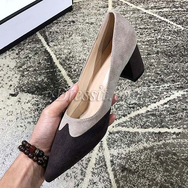 Women Simple Toe Closed Pointy Shoes (0919105)