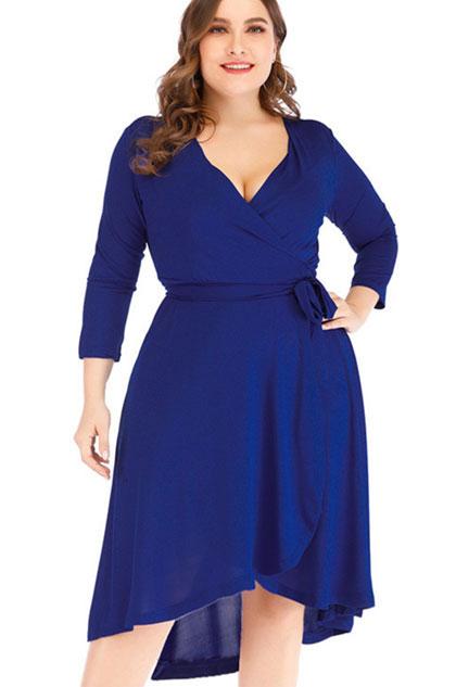 eDressit Classic Plus Size V-cut Cocktail Dress Women Dress (31190400)