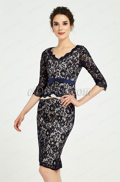 eDressit Blue Lace Mother of the Bride Women''s Dress (26191505)