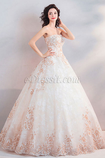 eDressit Sexy Corset Fitted Bodice Long Wedding Dress (36203307)