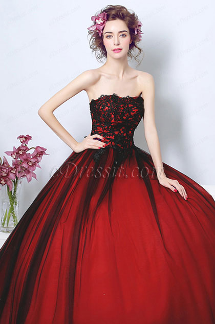 Sexy Corset Puffy Skirt Long Train Prom Dress