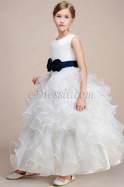 e41a121ff eDressit White Sleeveless Wedding Flower Girl Party Dress (27193507)