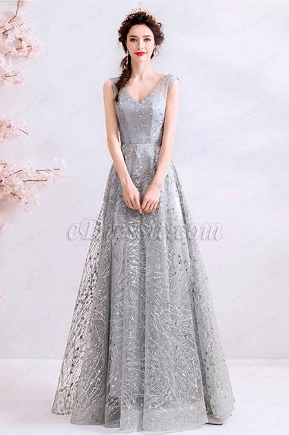 eDressit V-Cut Beaded Sequins Prom Gown Party Evening Dress (36195808)