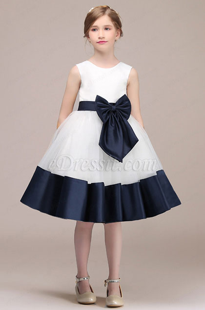 eDressit White/Blue Sleevless Lovely Flower Girl Dress (28193607)