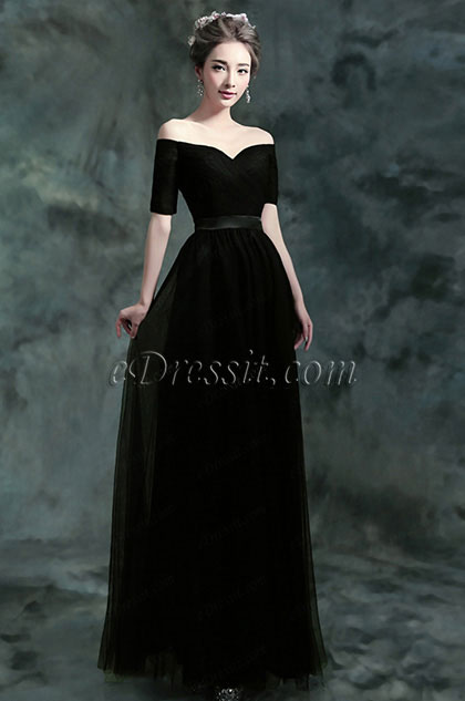 eDressit Sexy Off-Shoulder Black Long Women Party Dress (36190300)