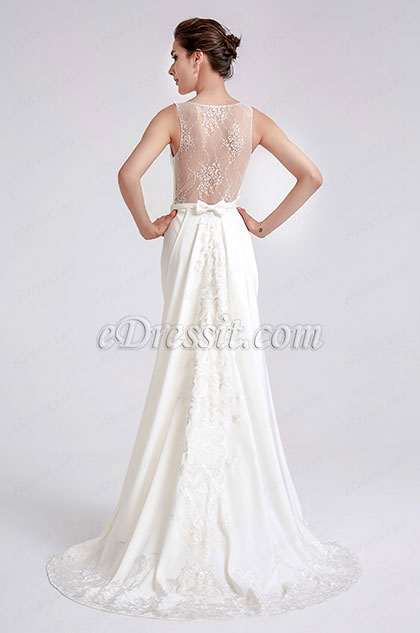 eDressit White Elegant Embroidery Detachable Party Dress (02190607)