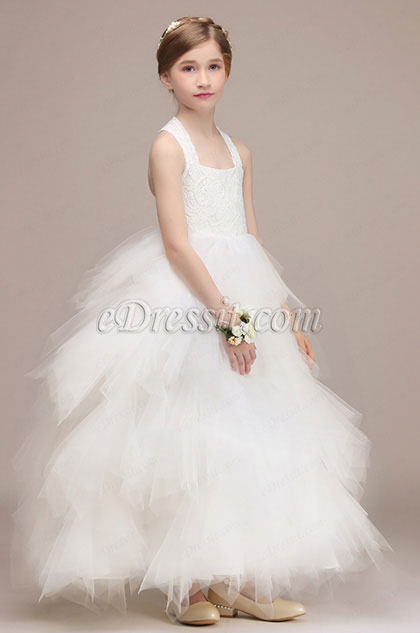 Romantique Multi-layer Flower Girl Party Dress