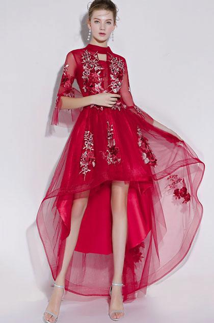 eDressit Sexy Red High Neck Short Party Ball Dress (35197902)