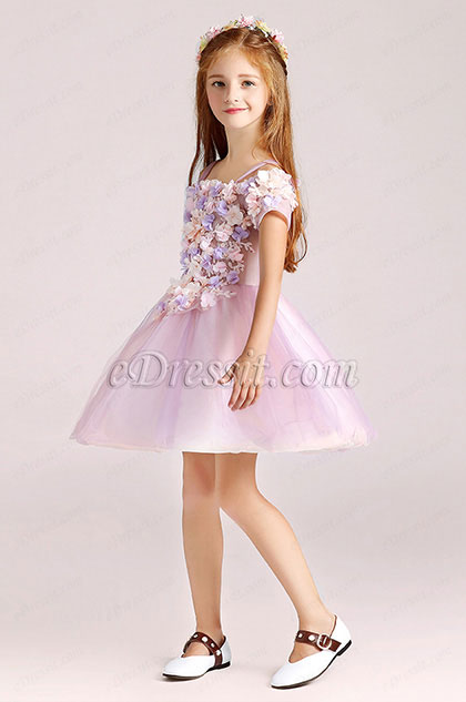 eDressit Cute Little Girl Flower Dress With Short Skirt (28190706)