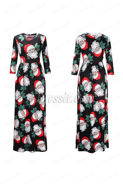eDressit Long Printed Holiday Dress Summer Dress (36190368)