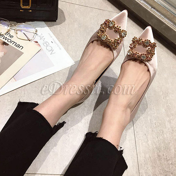 Shiny Beadings Toe Closed Rhinestone Shoes (0919072)