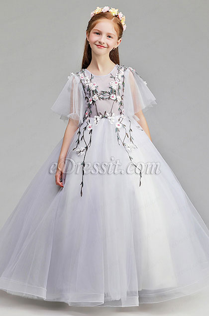 eDressit Short Sleeves Wedding Flower Girl Party Dress (27198208)