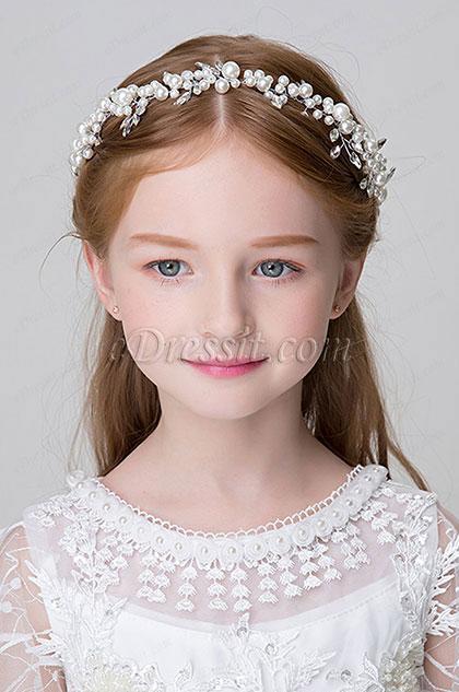 Edressit Floral Beads Little Girl Headwear Hair Hoop 13191731