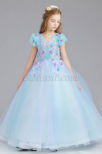 eDressit Flora V-cut Children Wedding Flower Girl Dress (27199305)