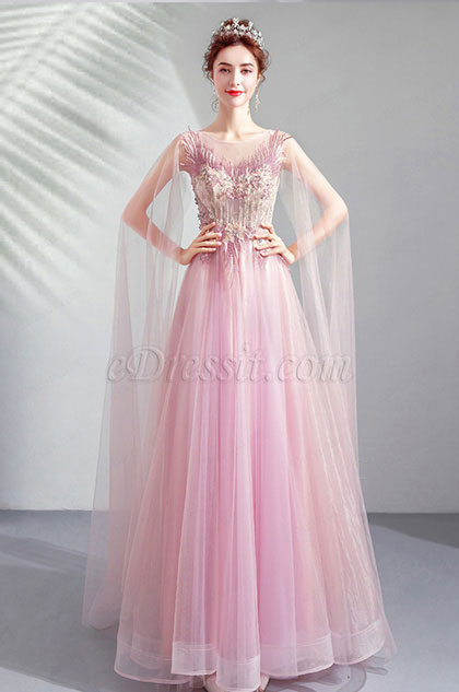 eDressit Elegant Long Tulle Bride Evening Prom Dress (36196106)