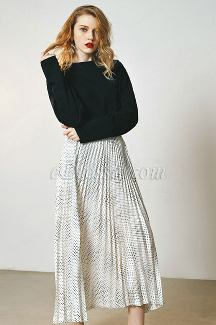 eDressit Wave Point Accordion Skirt Day Wear (30190707)