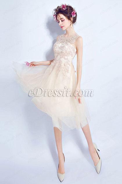eDressit Beige Sweet-Heart Bodice Lovely Cocktail Dress(35195914)
