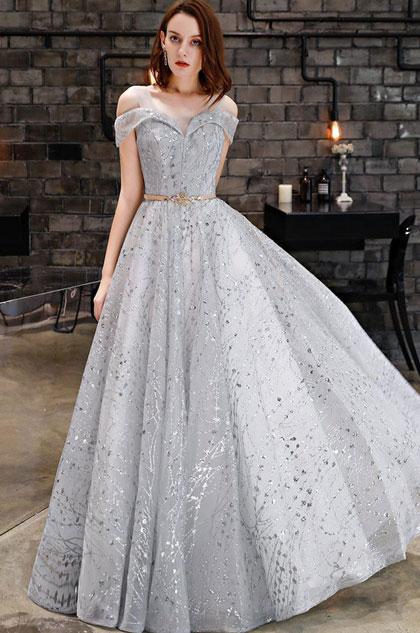 eDressit Off Shoulder V- Cut Sparkle Sequins Party Evening Dress (36220208)
