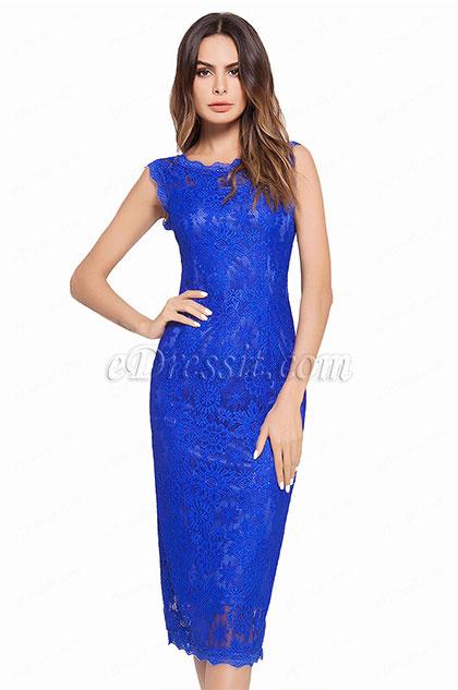 eDressit Lace Sleevless Cocktail Dress Day Wear (35194705)