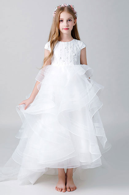 eDressit Short Sleeves Wedding Flower Girl Dress (27204907)