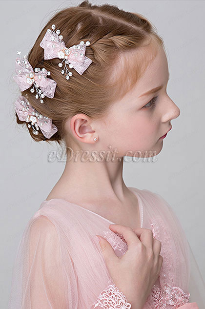 eDressit Bow-knot Floral Beads Girl Headwear (13191732)