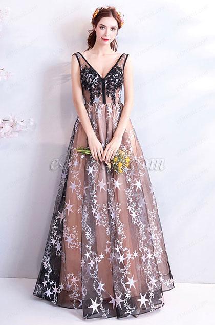 eDressit Sexy V-Cut Sleeveless Evening Prom Ball Gown (36201146)